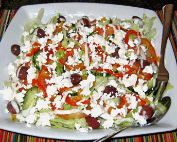 Another Greek salad made by Malini
